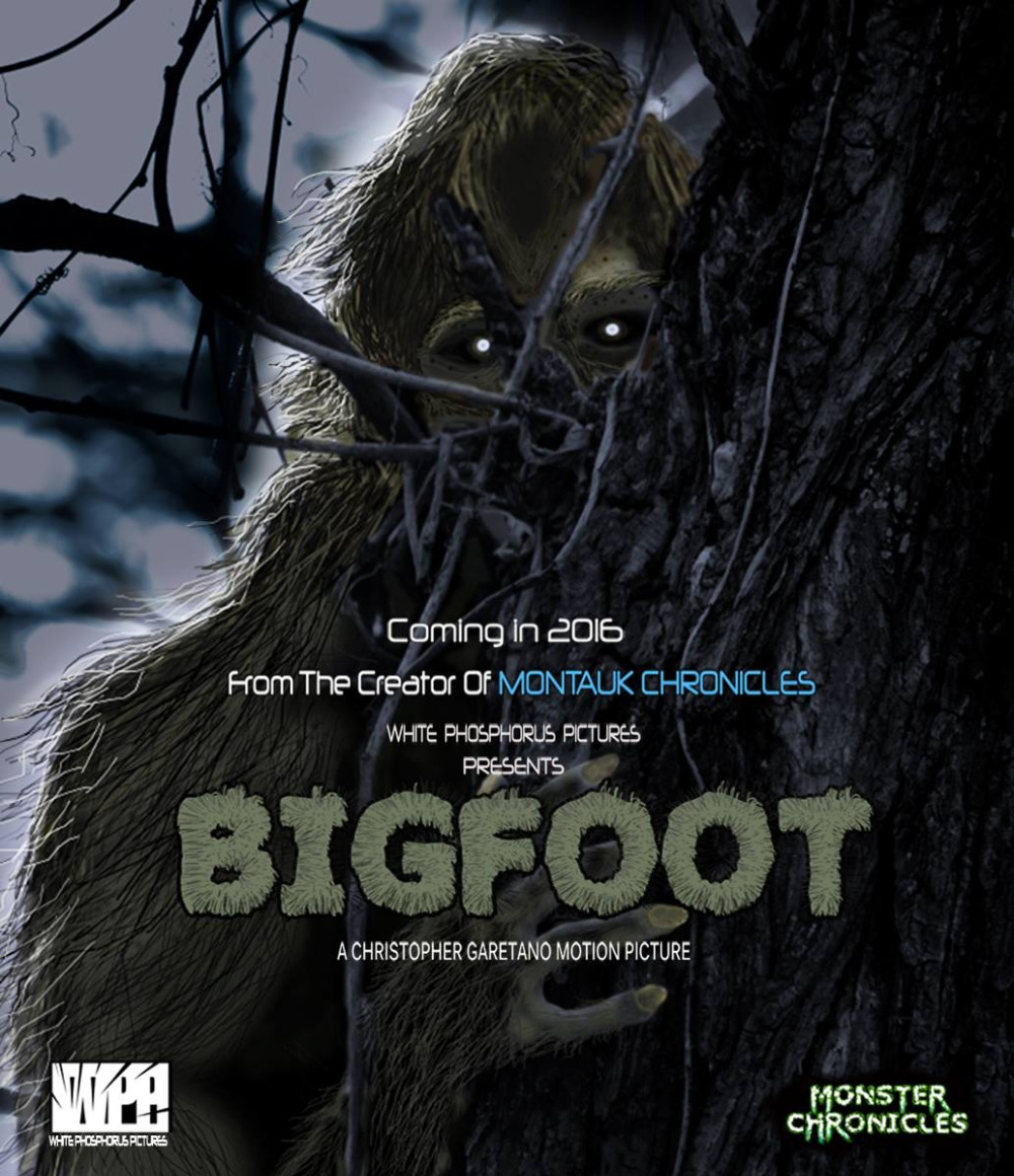 Poster for Chris Garetano's new movie about Bigfoot.