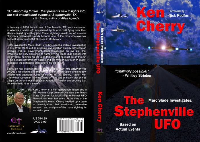 A photo of Ken Cherry's new book The Stephenville UFO .