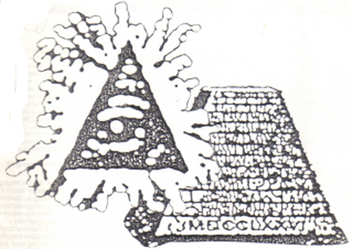 Drawing of the eye of the pyramid.