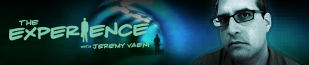 A screen-grab of Jeremy Vaeni's banner for The Experience.
