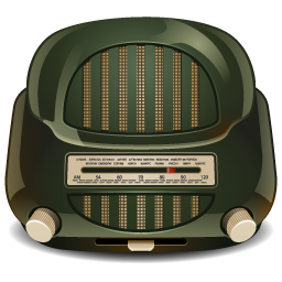 A green old-timey radio.